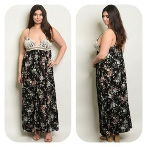 Plus Size Crotchet Maxi Dress